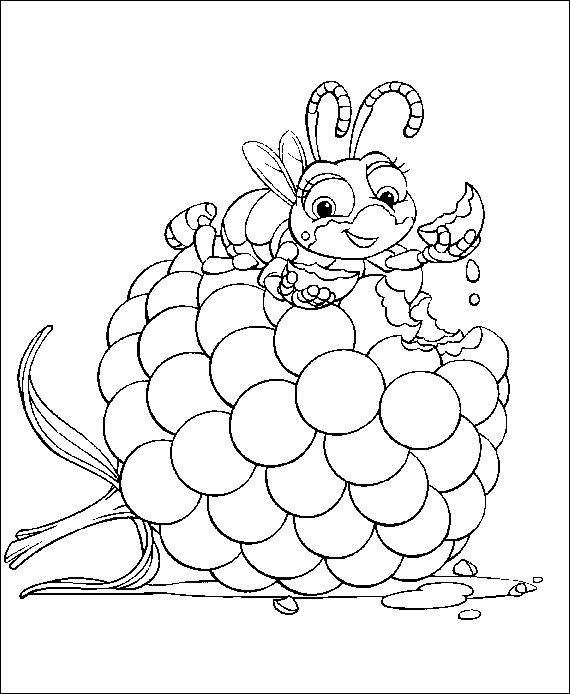 Coloring pages a bugs life picture 4 for Bugs life coloring pages
