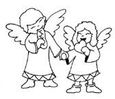 coloring pages angels
