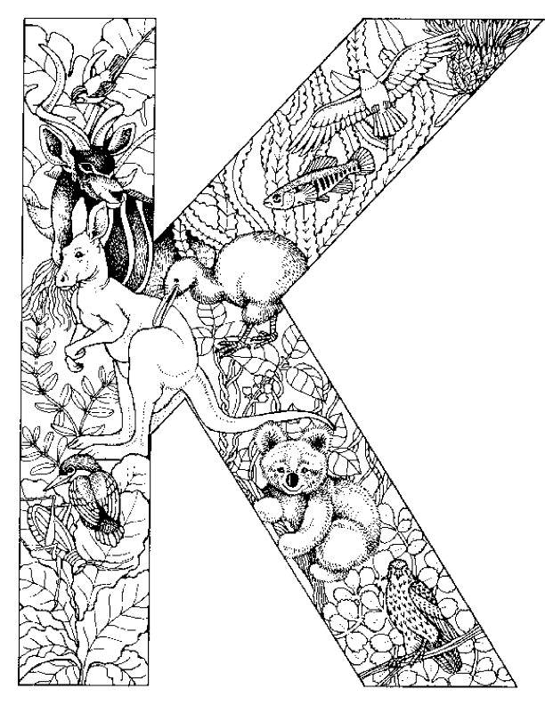 Coloring pages animals alphabet - picture 24