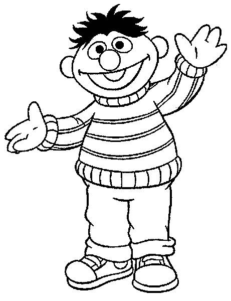 Coloring Pages Bert And Ernie Picture 21 Bert And Ernie Coloring Pages