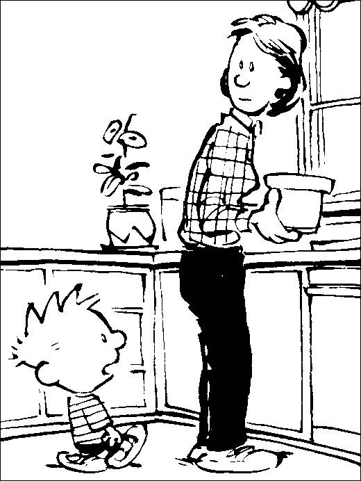 Coloring pages calvin and hobbes  picture 3