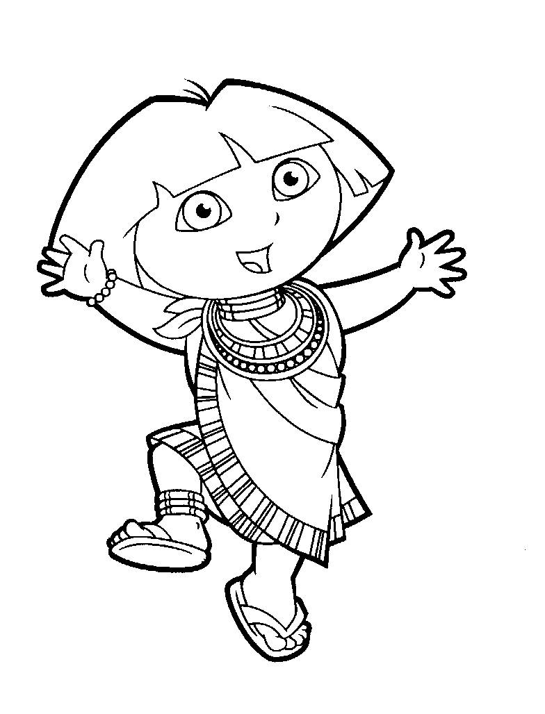 coloring pages dora and diego picture 19