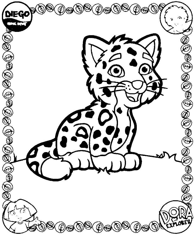 Coloring pages dora and diego - picture 2