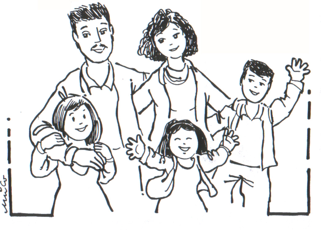Coloring pages family - picture 37