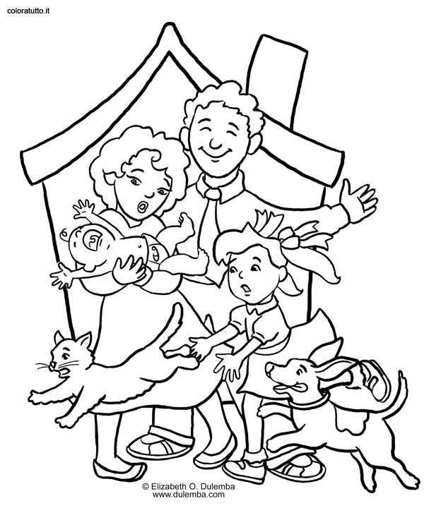 free online family coloring pages - photo#25