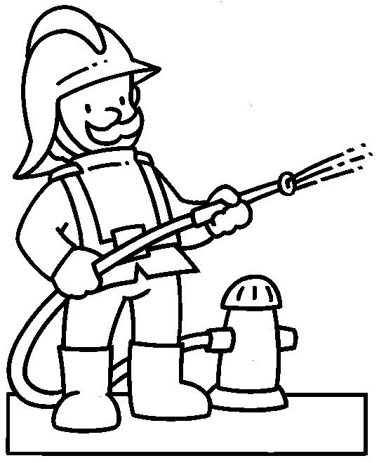 Fireman coloring pages for kids printable