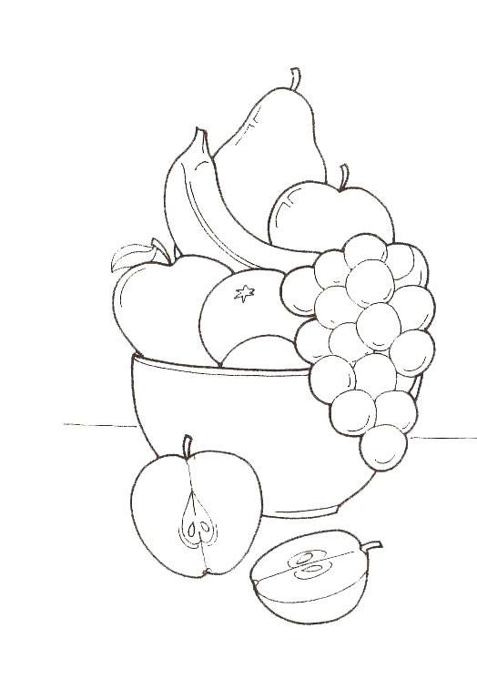 Esl fruit coloring pages coloring pages for Coloring pages fruits and vegetables