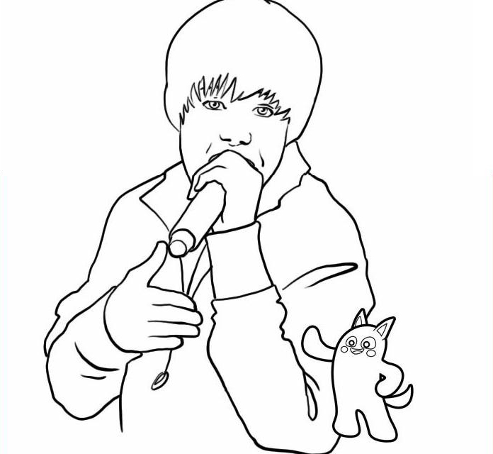 Coloring Pages Justin Bieber Colouring Pages And Printable Justin Bieber Coloring Pages