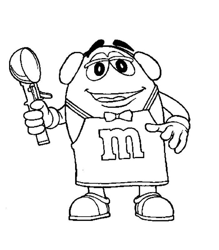 m and m coloring pages - photo #28