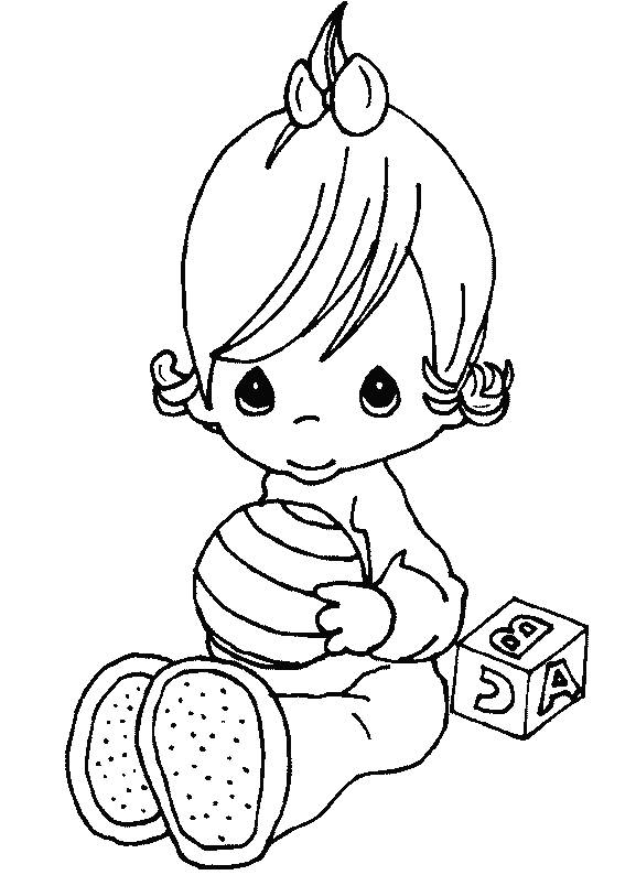 Free Coloring Pages Of Baby Items Precious Moments Baby Coloring Pages