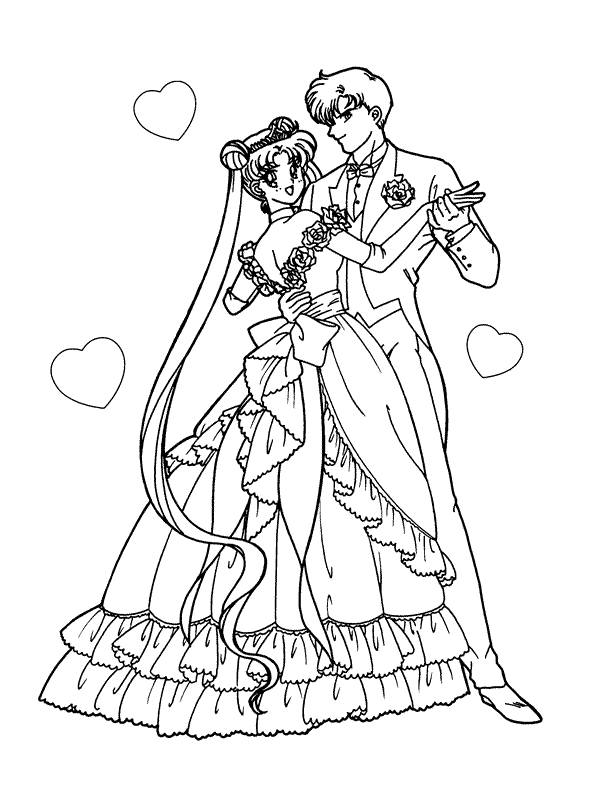 Coloring Pages Sailor Moon Picture 1