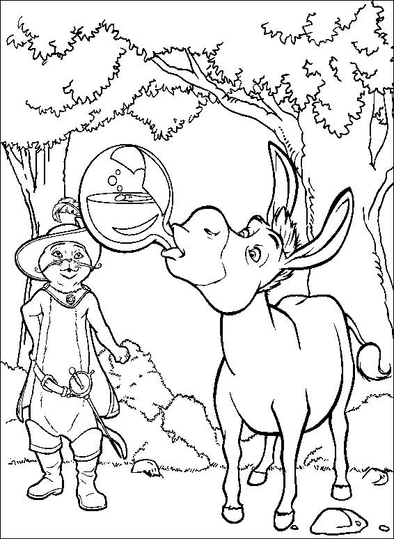 shrek 2 coloring book pages - photo#23