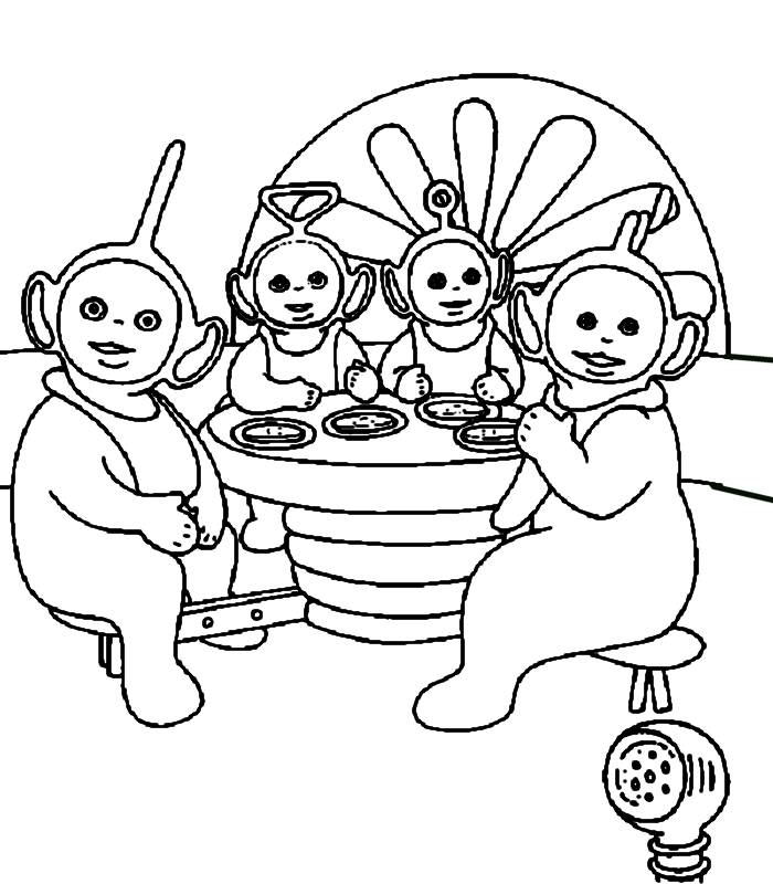 Coloring Pages Teletubbies 6